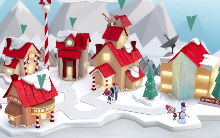 Санта готовится к путешествию. Это сайт, где за ним можно следить.
