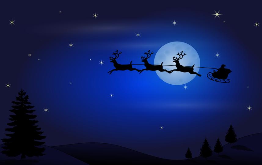 Санта готовится к путешествию.