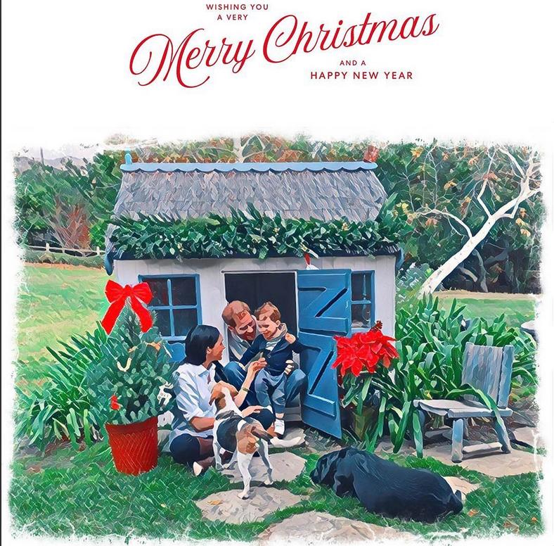 Рождественская открытка Меган Маркл.