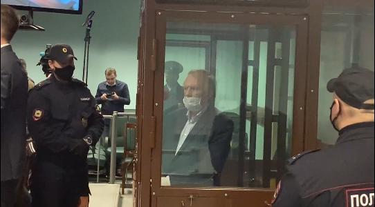 Олег Соколов в суде во время вынесения приговора. Фото Скриншот Youtube