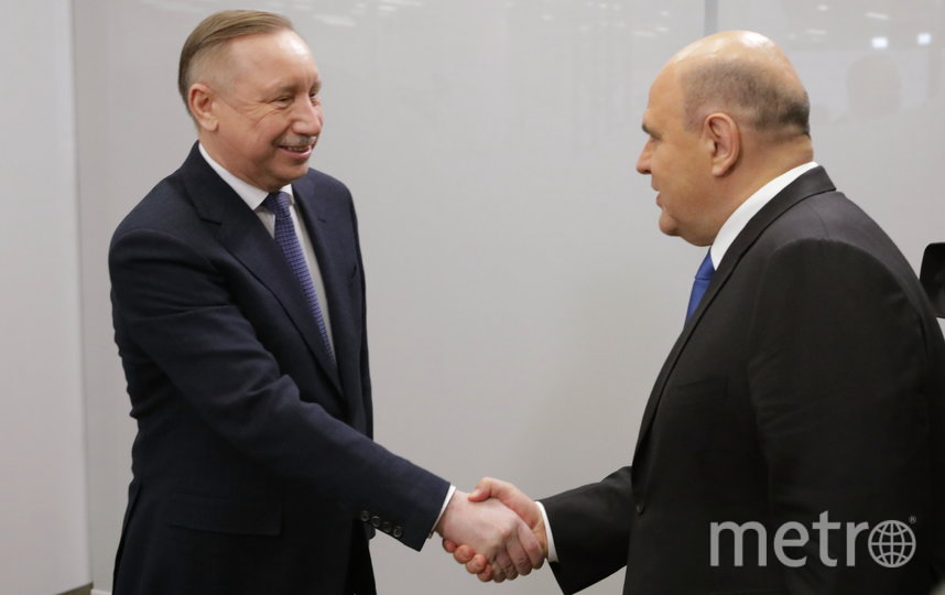 Беглов и Мишустин 25 декабря. Фото https://www.gov.spb.ru/