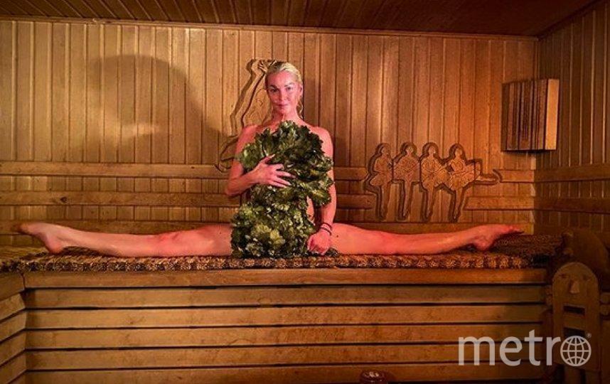 Главный популяризатор бани в России - Анастасия Волочкова. Она обожает парную и часто выкладывает оттуда эффектные фото. Фото volochkovaart
