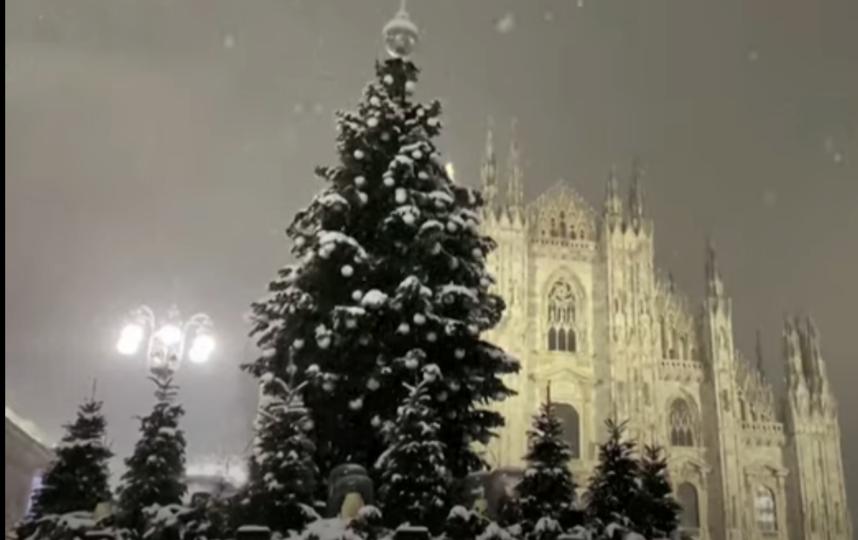 В Милане сильнейший снегопад. Фото https://www.instagram.com/explore/locations/213050058/milan-italy/