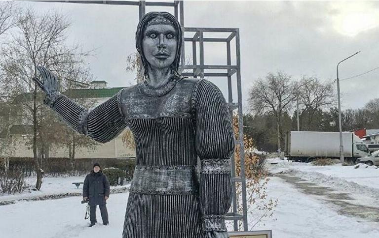 Памятник был установлен в честь 250-летия села Новая Аленовка в городе Нововоронеже Воронежской области. Фото Нововоронеж онлайн, vk.com