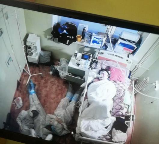Данное фото сделала медсестра коронавирусного отделения. Фото ЦМСЧ №38