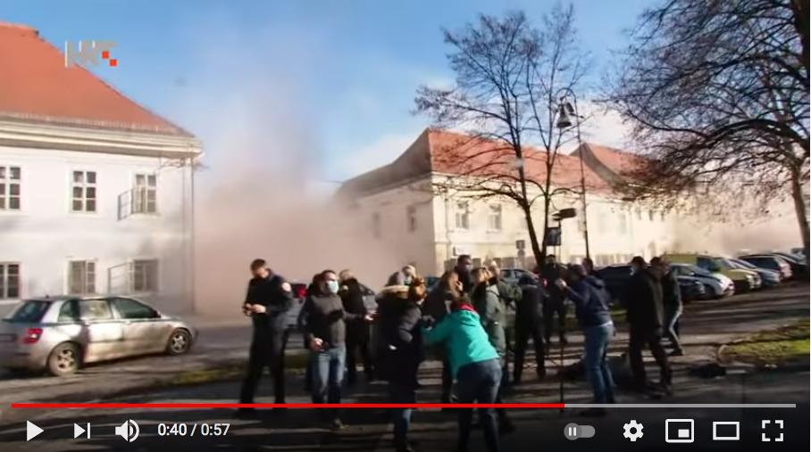 Толчки случились во время интервью мэра города. Фото Скриншот Youtube