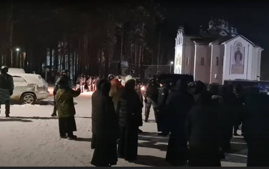 Так проходил штурм монастыря. Фото Скриншот видео.