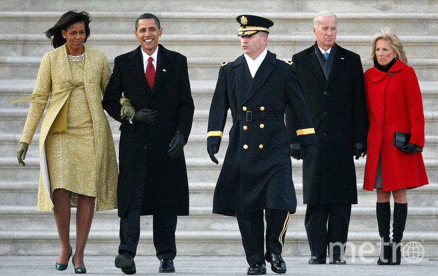 Обама с женой и Байден с супругой в 2009 году. Фото Getty