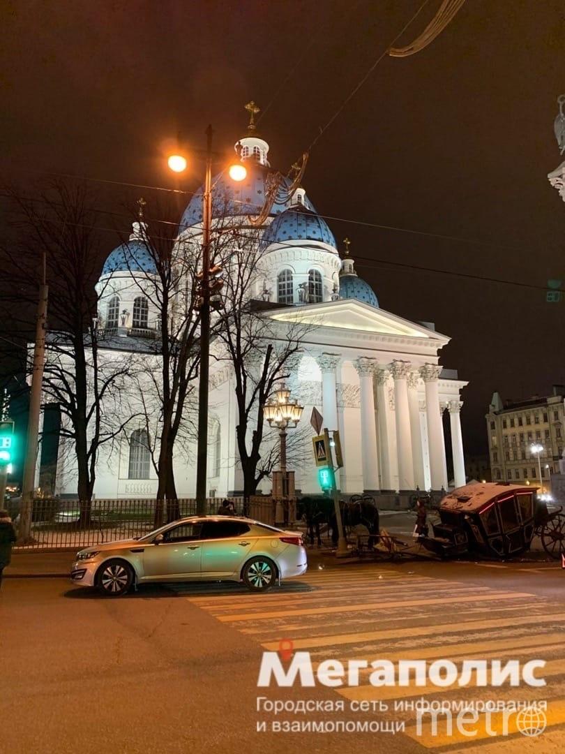 ДТП возле Троицкого собора. Фото https://vk.com/spb_today