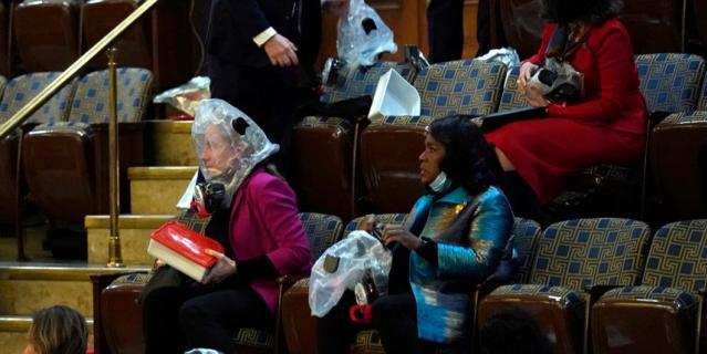Беспорядки в Вашингтоне у Капитолия.