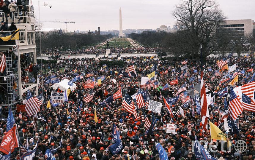 Беспорядки в Вашингтоне у Капитолия. Фото Getty
