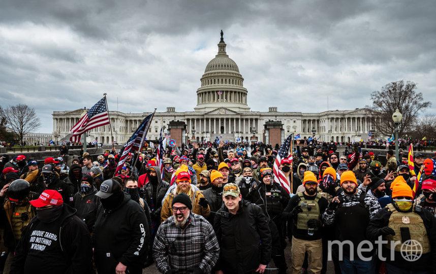 Беспорядки в Вашингтоне у Капитолия. Фото Getty.