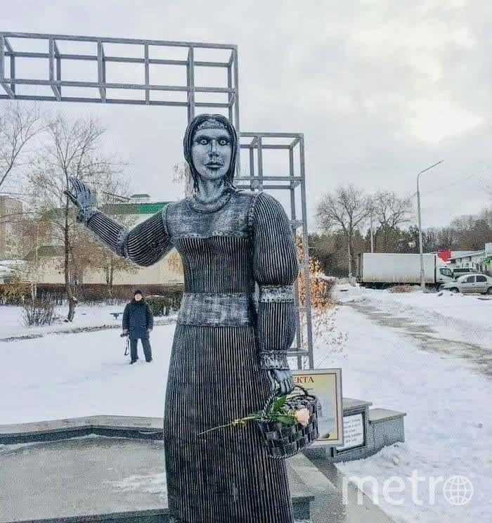 Памятник был установлен в честь 250-летия села Новая Аленовка в городе Нововоронеже Воронежской области. Фото Скриншот Twitter: @lady_Katz