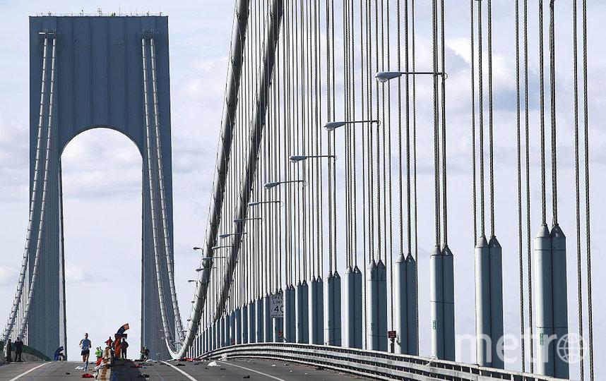 Подвесной мост в Нью-Йорке. Фото Getty