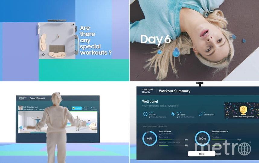 Телевизор заменит сурового тренера. Фото скриншоты из Consumer Electronics Show на youtube