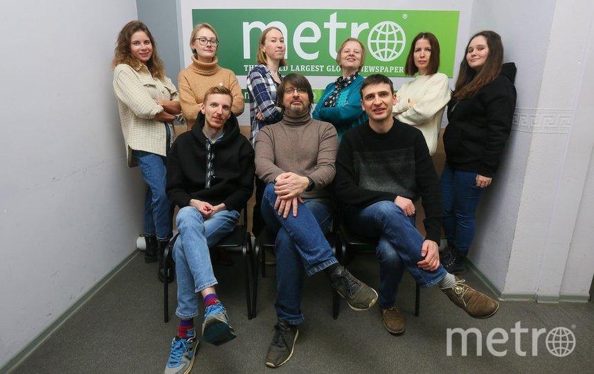 На этом снимке запечатлены все сотрудники Metro, которые не отправились на «удалёнку». Фото Василий Кузьмичёнок