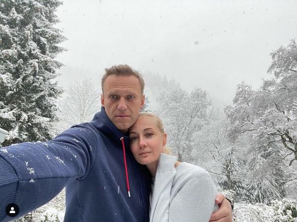 Алексей Навальный с супругой Юлией. Фото Скриншот Instagram: @navalny