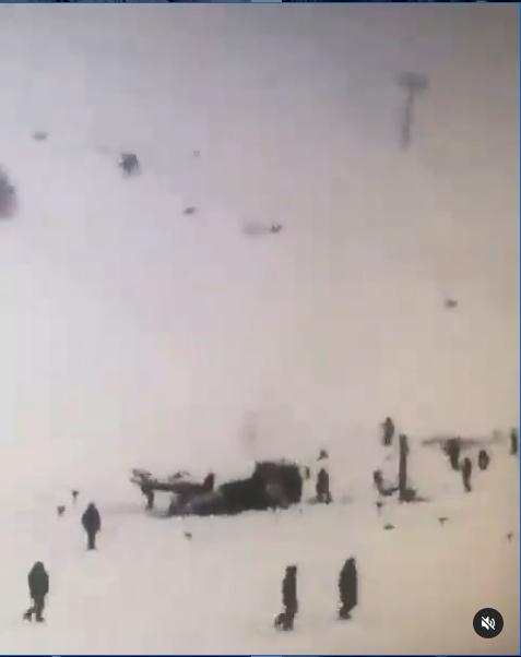 Последствия схода лавины на Домбае. Фото скрин-шот, Скриншот Youtube