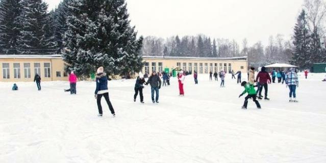 Каток в Павловском парке.