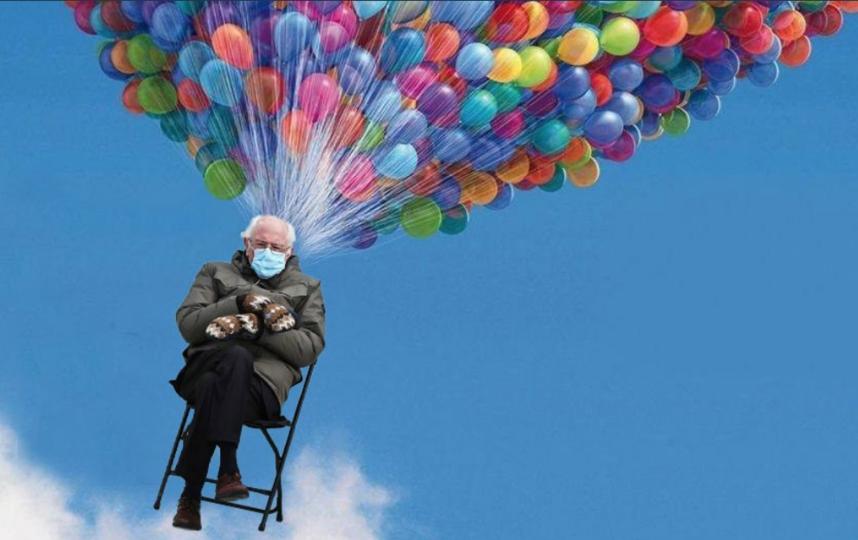 Берни Сандерс и мемы. Фото соцсети