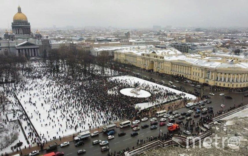 В Петербурге проходит несанкционированный митинг. Фото vk.com/spb_today_unpublished.