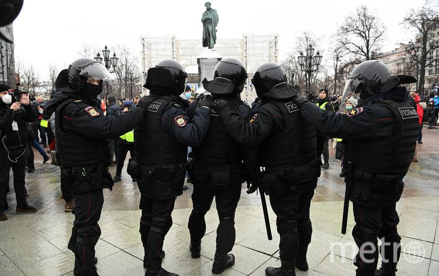 В столице проходит несогласованная акция в поддержку Алексея Навального. Фото AFP