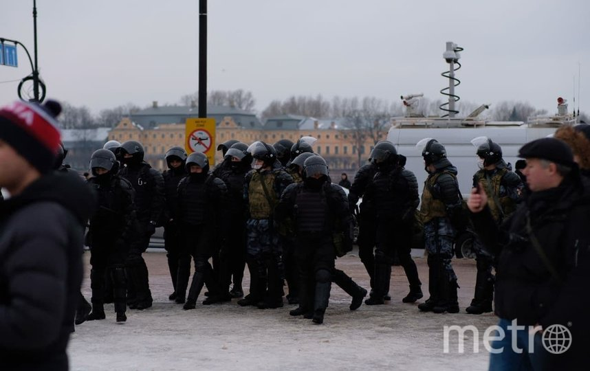 В Петербурге прошла несанкционированная акция. Фото Дарья Кашина.