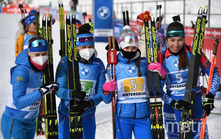 Российские биатлонистки подбираются к медалям в личных гонках, а пока порадовали золотом в эстафете. Фото AFP