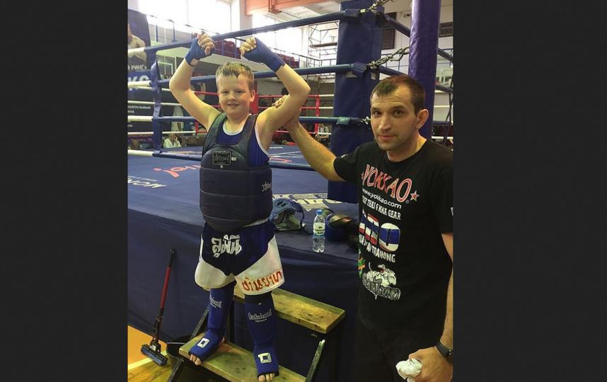 2020 год. Аркадий на занятиях со своим тренером. Фото instagram @petrova.supernova