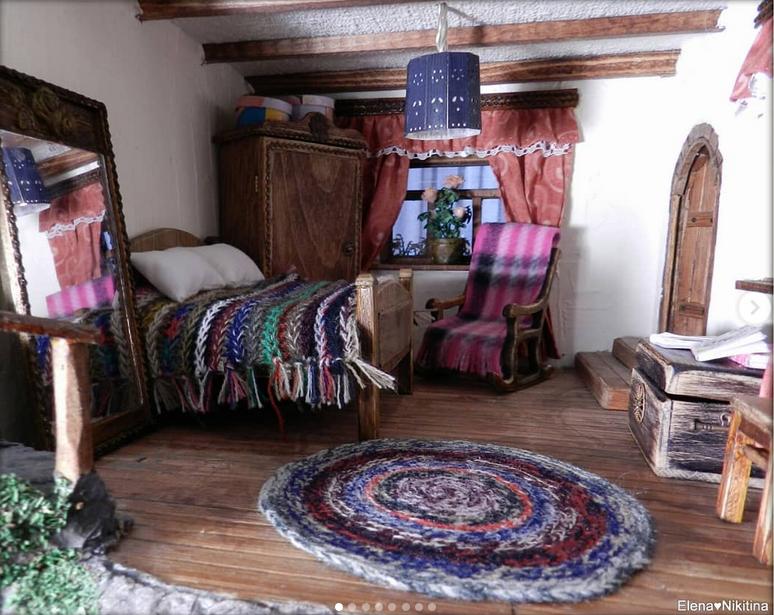 Петербурженка создает миниатюрные домики. Фото Скриншот Instagram: @elena_house_mouse