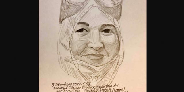 Портреты сотрудников больницы Св. Георгия художник выкладывает в социальные сети.