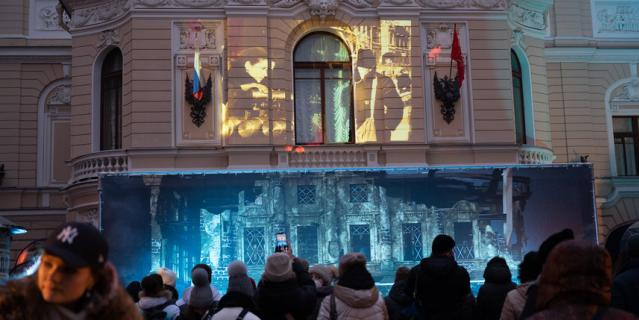 Молодежная акция во дворе Капеллы 27 января 2021 года.