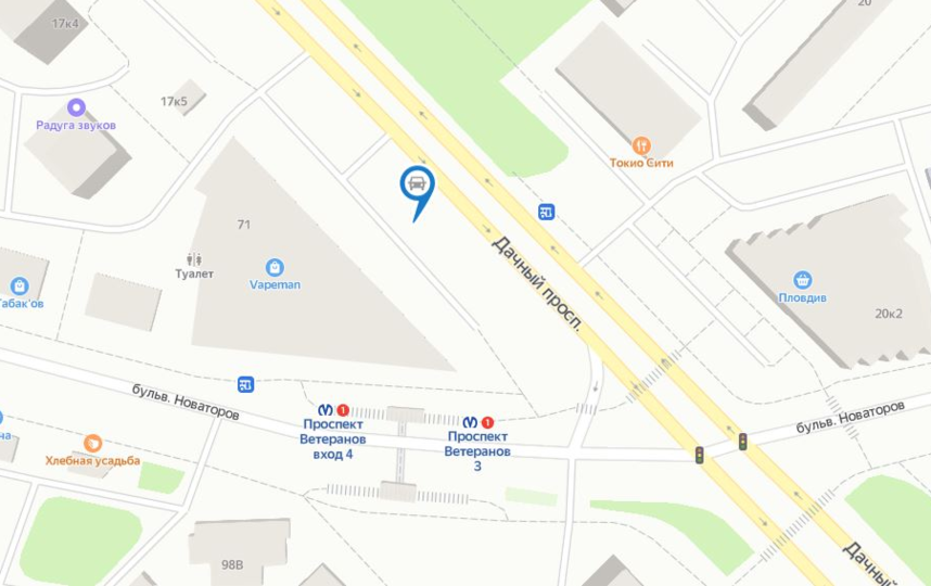 Месторасположение парковки на карте. Фото яндекс.карты.