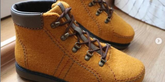 Валяные ботинки.