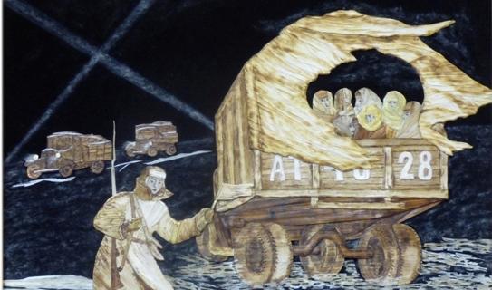 """Работы выставки  """"Растревоженная память""""."""