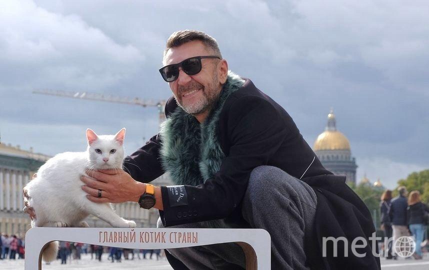 Шнуров и кот Ахилл. 31 января - день белых котов. Фото Республика кошек, Предоставлено организаторами