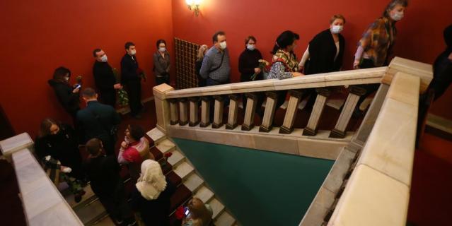 Прощание с Лановым в театре Вахтангова, где актер служил более 60 лет.