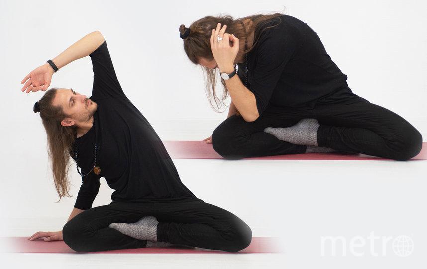 4 упражнение: дыхание с вытяжением. Фото Святослав Акимов.