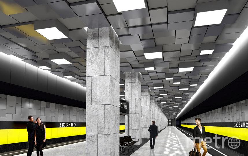 """Так будет выглядеть станция """"Зюзино"""". Фото stroi.mos.ru"""