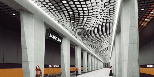 """Станция """"Воронцовская"""" (рабочее название """"Калужская""""). Здесь будет переход на Калужско-Рижскую линию."""