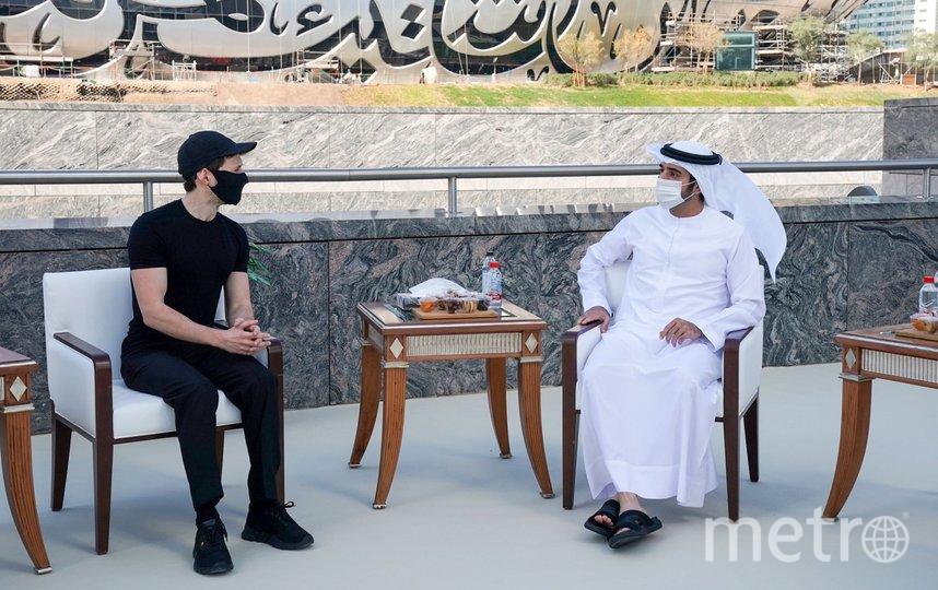 Дуров встретился с наследным принцем Дубая. Фото HamdanMohammed.