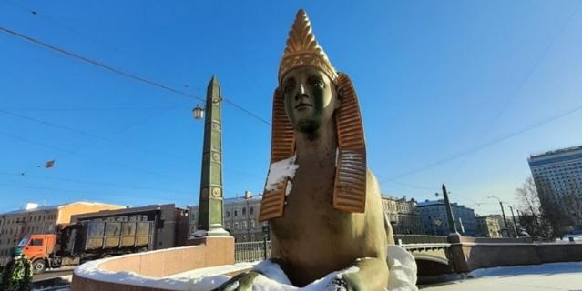 Сфинксы на Египетском мосту.