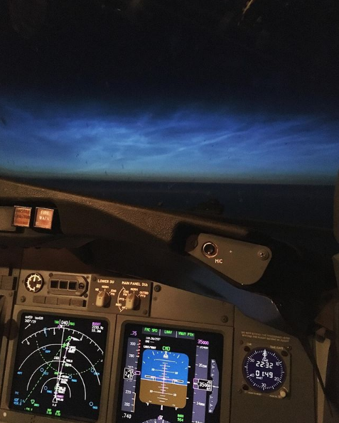 """Фото из кабины экипажа. Фото Скриншот Instagram: @pilot_for_you, """"Metro"""""""