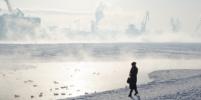Морозный туман окутал Петербург