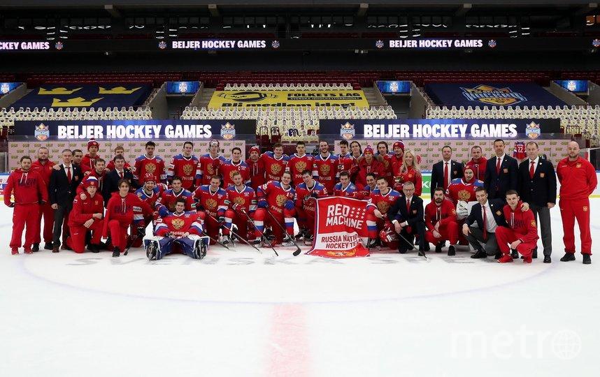 Сборная России по хоккею. Фото Скриншот Twitter: @russiahockey