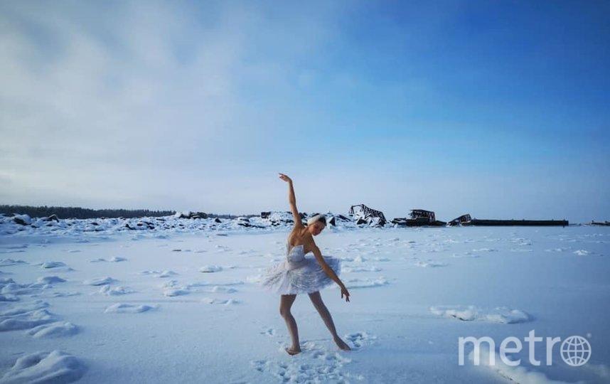 Балерина привлекла внимание к петиции, исполнив танец на льду Финского залива. Фото facebook.com/ilmira.bagautdinova.