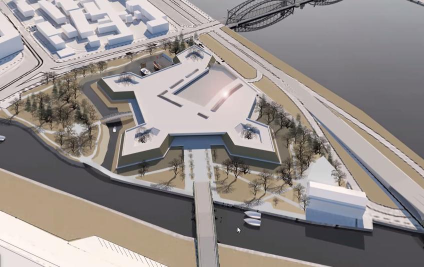 """Так может выглядеть будущий музей-заповедник. Фото Архитектурное бюро """"Студия-17"""""""