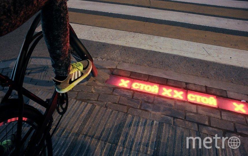 """Проект """"Светофор под ногами"""" на проспекте Мира. Фото Андрей Любимов/агентство """"Москва"""""""