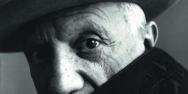 """Работа Пабло Пикассо на выставке """"Париж для своих""""."""