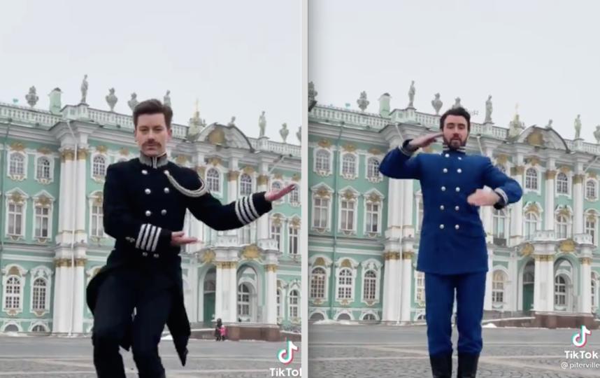 Дмитрий Репин и Николай Карпов. Фото Скриншот TikTok: @piterville